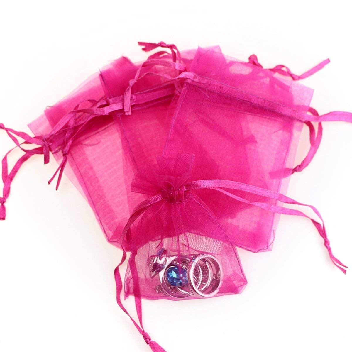 ifavor123.com: 120pk Drawstring Organza Jewelry Candy Pouch Party ...