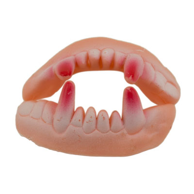 ifavor123 com: 2 Piece Plastic Scary Vampire Werewolf Teeth